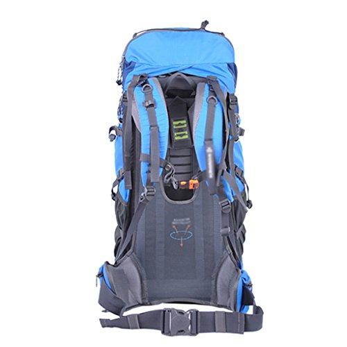 HWLXBB Outdoor Bergsteigen Tasche Männer und Frauen 65L Wasserdichte Mehrzweck-Bergsteigen Tasche Wandern Camping Bergsteigen Freizeit Rucksack Rucksack C