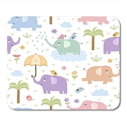 Alfombrillas de ratón, Colorful Elefant Cute Elephants in Childish Style Great and...