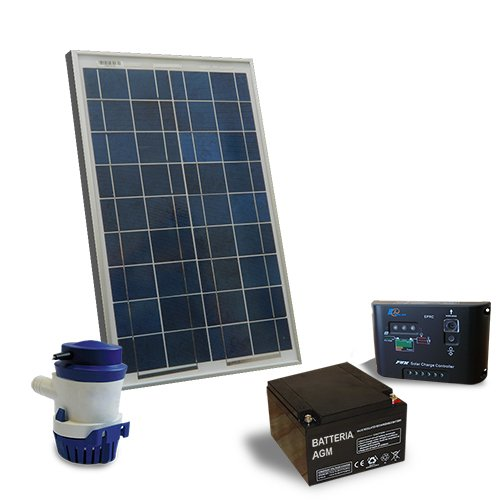 Kit Solare Irrigazione 32 l/m 12V Pannello