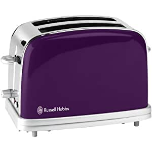 Russell hobbs 1801256 grille pain 2 fentes 1100 w prune for Russell hobbs grille pain radio