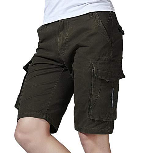 UJUNAOR Herren Cargo Hose Baumwolle Militär Hose Wandern Shorts