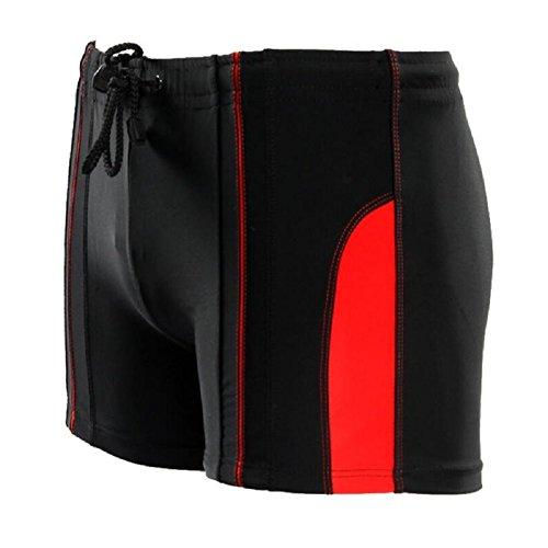 LJ&L Herren-Schwimm-Shorts Strand-Hosen, Nylon weiche und komfortable atmungsaktive elastische Shorts, Fitness schnell trocknende Shorts E