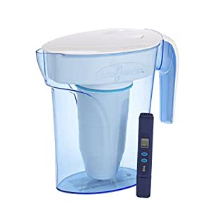 ZeroWater 7 Cup ZP-007RP 1.7 Litre Blue Water Filter Jug | Fridge Door Design Water Jug with 5 Stage Filtration System, Water Filter Cartridge Included