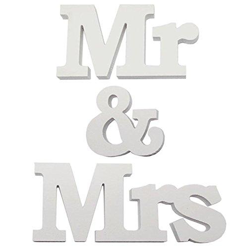 Mr & Mrs buchstabenschmücken für Hochzeit Dekoration 1 Set Mr & Mrs Zeichen Top Table Geschenk-Dekor