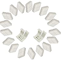 Eleidgs 20 PCS Tira LED Conector 2 Pin Conector 10mm para Monocromo LED Strip Light 3528 5050 (blanco)