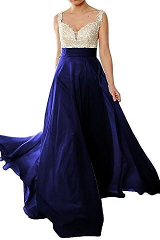 MACloth - Robe - Sans Manche - Femme - Bleu - 38
