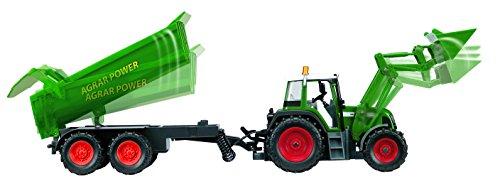 RC Auto kaufen Traktor Bild 4: Dickie Toys 201119266 - RC Farmer Set, funkferngesteuerter Traktor mit Anhänger inklusive Batterien, 60 cm*