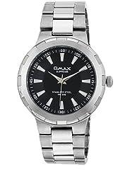 Omax Analog Black Dial Mens Watch - SS420