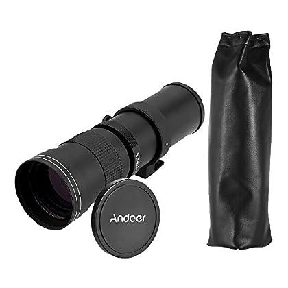 Andoer–420–800mm f/8,3–16HD Super de tele lente de zoom manual con T de soporte para Canon Nikon Minolta Sony Pentax Olympus DSLR Cámara