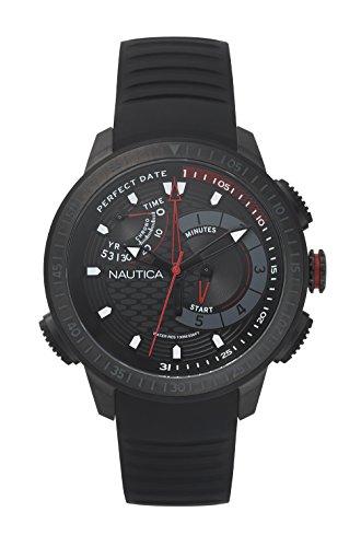 Nautica Mens Chronograph Quartz Watch with Silicone Strap NAPCPT003