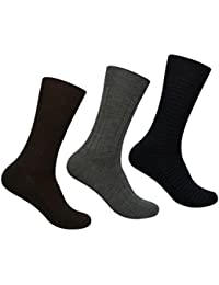 Supersox Men's Winter Socks Reverse Design Pack of 3