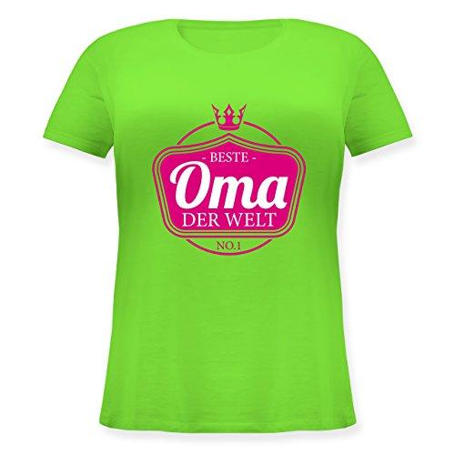 Shirtracer Oma Beste Oma der Welt Lockeres DamenShirt in Großen Größen mit  Rundhalsausschnitt Hellgrün