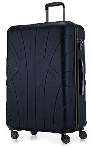 SUITLINE - Hartschalen-Koffer Koffer Trolley Rollkoffer Reisekoffer, TSA, 76 cm,