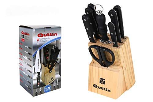 Set couteaux Quttin 9 pièces porte-ustensiles Sybarite