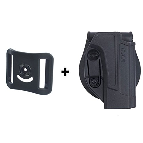 ORPAZ Defense Tiefziehholster verstellbar drehbar drehung Paddle Pistole Holster Active Retention + Gürteladapter für Alle Smith & Wesson S&W M&P 9mm, .40cal, .22cal & .45cal, M2.0 in 9mm, .40 & .45, SD9, SD40, SD9VE (Holster And Wesson-sd40 Smith Ve)