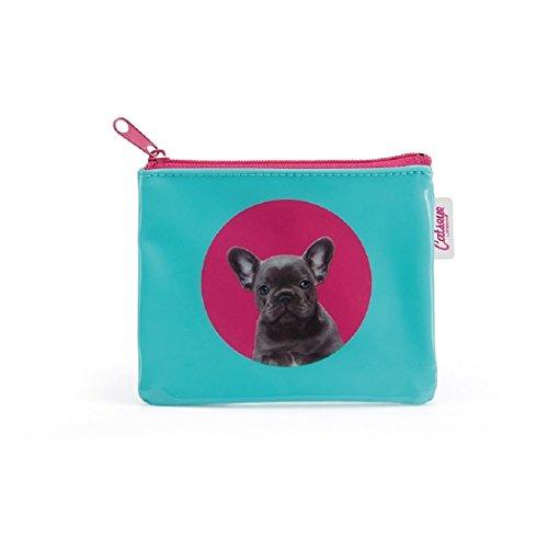 Catseye Flach Spot Bulldog Coin Purse Premium Kosmetiktasche Small Geldbeutel Mäppchen Tasche Klein