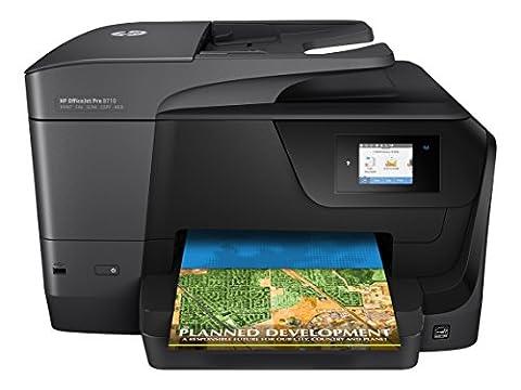 HP OfficeJet Pro 8710 Multifunktionsdrucker (A4, Drucker, Scanner, Kopierer, Fax, WLAN, LAN, Duplex, Instant Ink kompatibel, HP ePrint, Airprint, Cloud Print, USB, 1200 x 1200 dpi) (Hp Officejet-tintenstrahldrucker)
