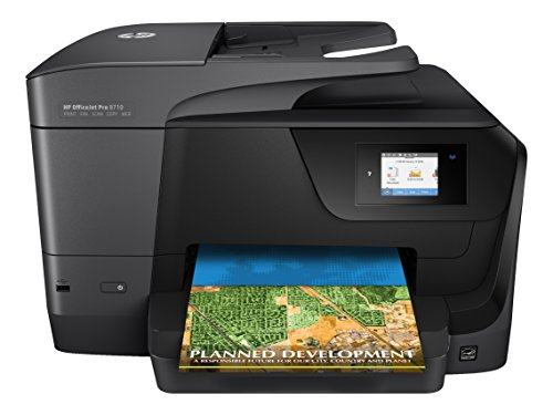 HP OfficeJet Pro 8710 Multifunktionsdrucker (A4, Drucker, Scanner, Kopierer, Fax, WLAN, LAN, Duplex, Instant Ink kompatibel, HP ePrint, Airprint, Cloud Print, USB, 1200 x 1200 dpi) schwarz