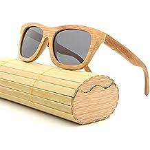 5b17632c63c48e AZB Bambou Lunettes de soleil polarisées pour hommes et femmes, lunettes de soleil  vintage en