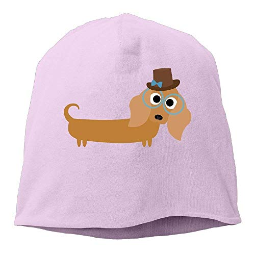Suxinh Top Level Beanie Hat Men Women Knit Hat Weiner Dog Cotton Skull Cap
