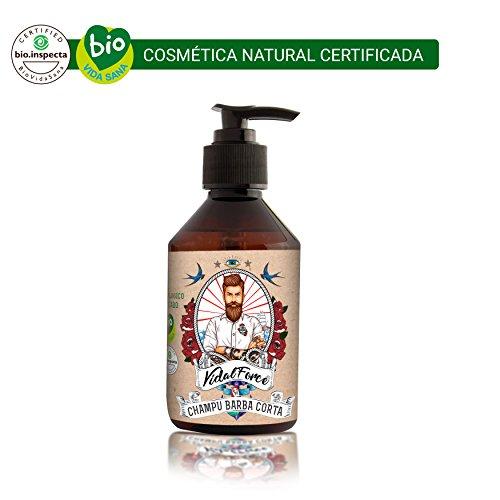 VidalForce Champu-Gel Rostro y Barba Especial Barba Corta Natural Certificado 100ml