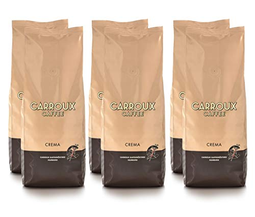Carroux Caffee Crema, ganze Bohne (6 x 500 g)