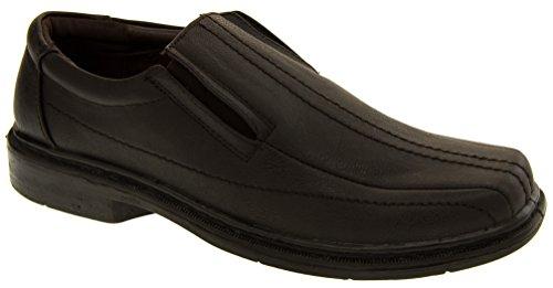 Classics Herren Leder Gefüttert Beleg auf Schuhen Braun