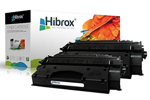 Pack 2Pcs Hibrox Toner Compatible HP CE505X CF280X 05X 80X pour Canon ISENSYS LBP 6300 DN ISENSYS MF 5980 DW MF 6180 DW LBP 6650 DN HP LASERJET P2055 P2055 DN LASERJET PRO 400 M401 MFP M425DN MFP
