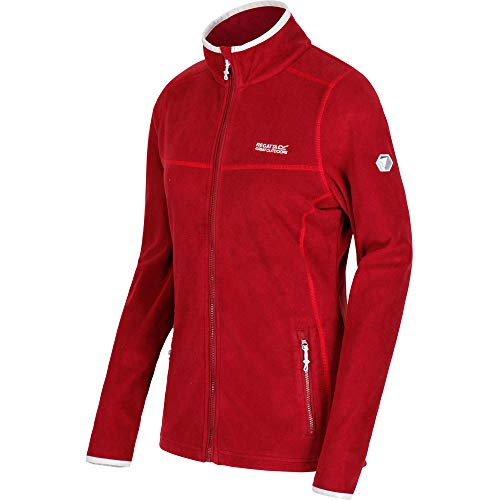 Stretch-zip-jacke (Regatta Damen Floreo II Stretch Full-Zip Fleece Jacke, Rot (Tibetan Red), 48 EU (Herstellergröße: 22))