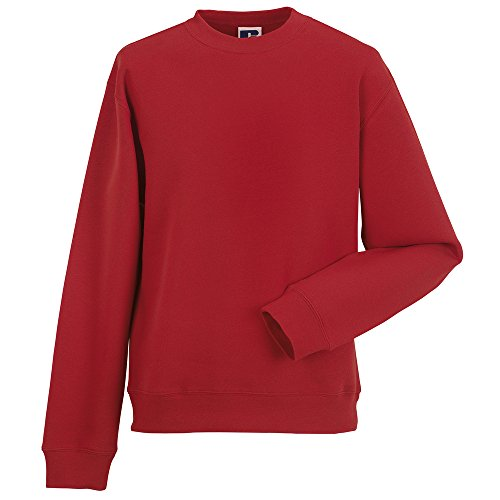 Russell set-in-sleeve Felpa Classic Red