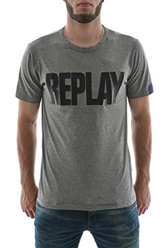 Replay -  T-shirt - Maniche corte  - Uomo grigio XX-Large