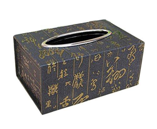 Alien Storehouse Chinesisches Muster-Leder-Serviette-Gewebe-Halter-Kasten-Abdeckung 19x11x8cm -