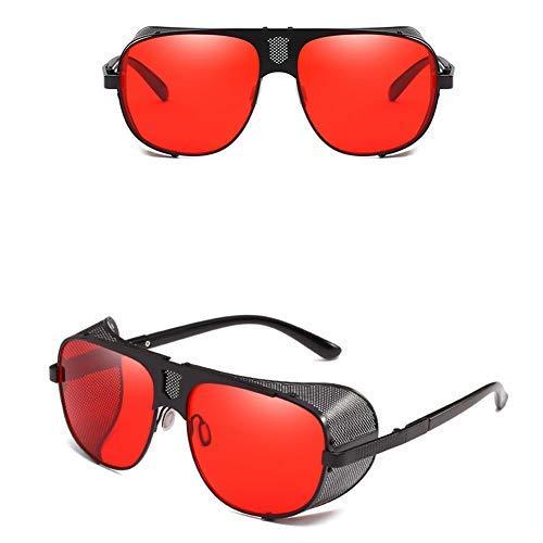 Männer und Frauen Metall Fahren Sonnenbrillen runden Rahmen Brille Farbfilm Sonnenbrille Sportbrille Angeln Golfbrille-colour6