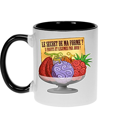 Okiwoki Mugs One Piece parodique Fruit du Démon : Le secret de la forme des pirates de Grand Line ! (Parodie One Piece)
