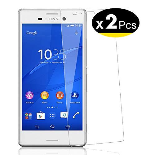 NEW'C Lot de 2, Verre Trempé pour Sony Xperia Z3 Film Protection écran - Anti Rayures - sans Bulles d'air -Ultra Résistant (0,33mm HD Ultra Transparent) Dureté 9H Glass