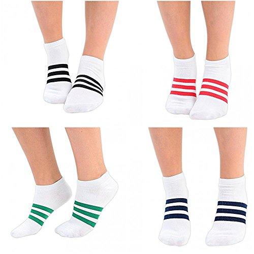 1 order 3 Paare Bunte Mädchen Sneakersocken mit Bärenmotiv in 5 Farben in EU-Größe 37-39 -