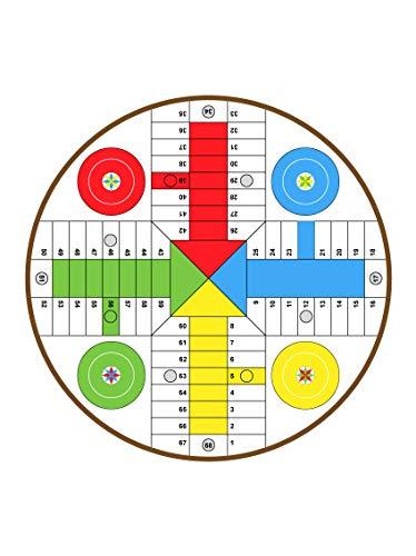 CustomGlass Tapa de Cristal para Mesa Circular Personalizada con Tablero de Parchís (A Medida)