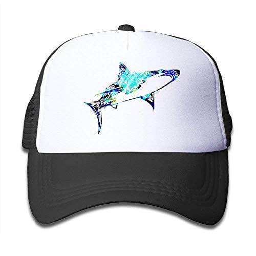 Wamnu Ggkg Caps Camo Shark Funny Boys Mesh Hat Baseball Caps Adjustable Trucker Cap (Zombie Shark Spiele)
