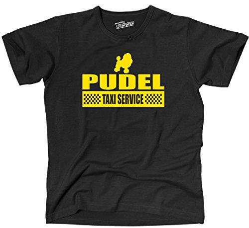 Siviwonder Unisex T-Shirt PUDEL Taxi Service Hund Hunde lustig fun Schwarz