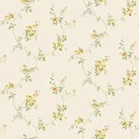 Wallpaper Rose Garden Trellis Rose Crema Verde