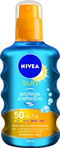 Nivea Sun - Protege & Refresca - Spray solar invisible refrescante SPF50...