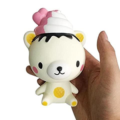 Decompression Toy ,Bestop Slow Rising Animal Doll Squeeze Unicorn Doll Funny Poo Kids Gifts (A)