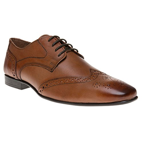 Frank Wright Brogue Homme Chaussures Fauve Fauve