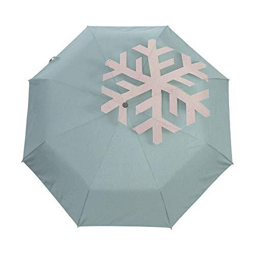 Schneeflocke gedruckt automatische Regenschirm Winddicht Frauen Regenschirm Neue DREI Taschenschirme männlich/weiblich kommerziellen - Kommerziellen Stil Edelstahl