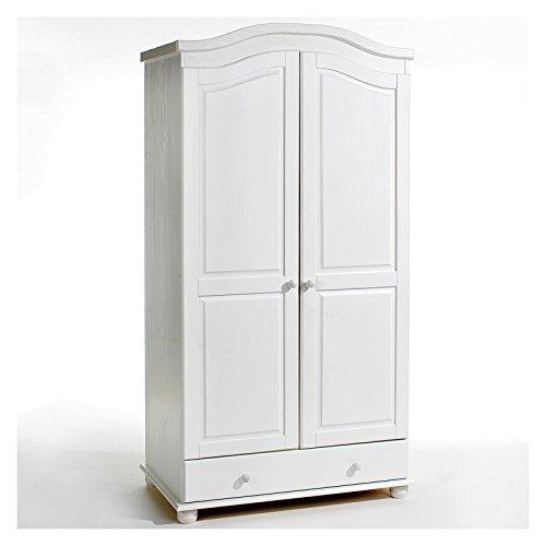 IDIMEX Garderobenschrank Dielenschrank Kleiderschrank BERGEN, Kiefer, 2-türig 2-Türen, weiß