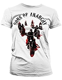 Officially Licensed Merchandise Sons Of Anarchy Motorcycle Gang Girly T-Shirt