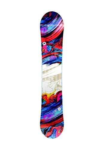 Nitro Snowboards Damen Lectra '20 Fehlerverzeihenden All Mountain Girls Snowboard für Einsteiger, Fortgeschrittene Board, Mehrfarbig, 142 cm