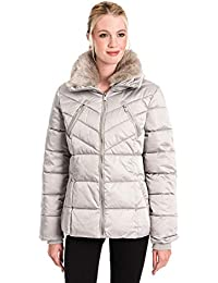 d0e6ade9f0e7 Rino & Pelle Women's Temmy Faux Fur Collar Quilted Coat - Moonrock