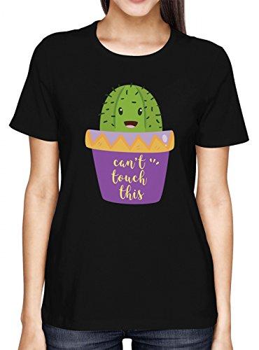 Kaktus #3 Premium T-Shirt | Can´t Touch This | Spaß | Coole Sprüche | Frauen | Shirt, Farbe:Schwarz (Deep Black L191);Größe:S