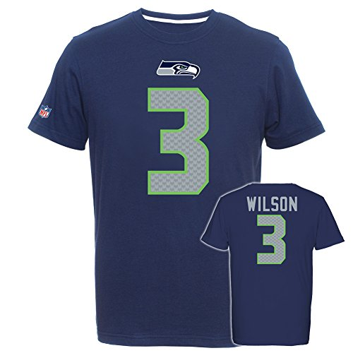 NFL Football T-Shirt SEATTLE SEAHAWKS Russell Wilson redburn Trikot (X-LARGE)